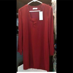 New Sandro Red Dress